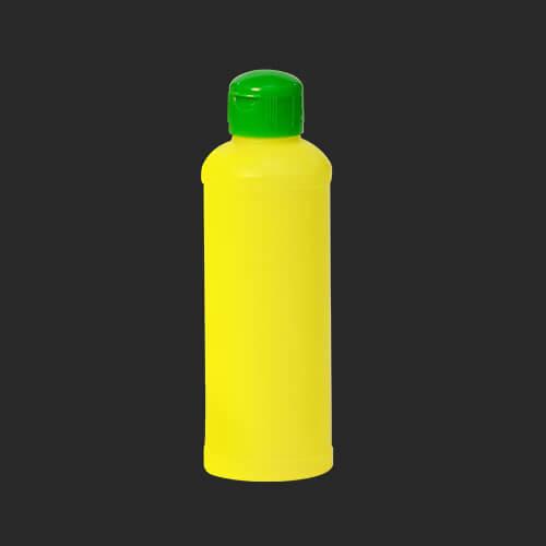 ขวดน้ำยาล้างจาน ทรงกลม สีเหลือง 250 ml